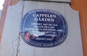 plaketten på Cappelengården